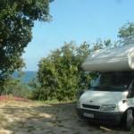 camper in laguna