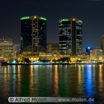 Deira skyline at night