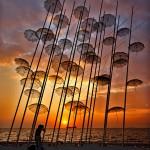 Чадърите – модерният символ на Солун